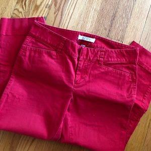 LOFT 4P cropped pants red